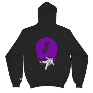 Covered Spaceman Black/Purple Champion Hoodie