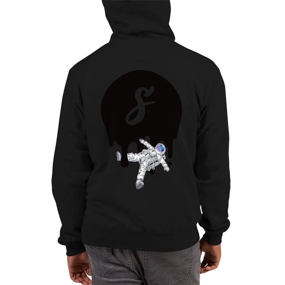 Covered Spaceman Black/Black Champion Hoodie