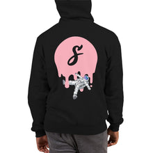 Load image into Gallery viewer, Covered Spaceman Black/Pink Champion Hoodie