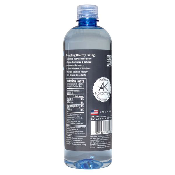 AlkaKrisp Natural Alkaline Water (24 Pack 700ml 23.7fl oz)