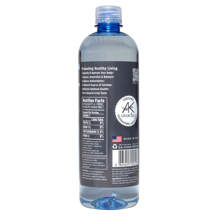 AlkaKrisp Natural Alkaline Water (12 Pack 700ml 23.7fl oz)