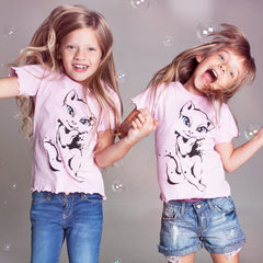 T Shirt Talking Angela City Kitty for girls