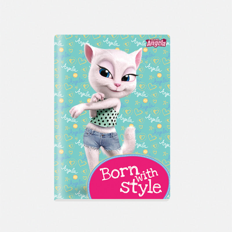 Talking Angela A4 Notebook, Kids Born with Style