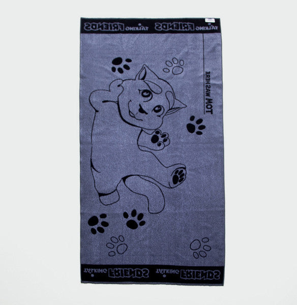 Black Talking Tom Towel