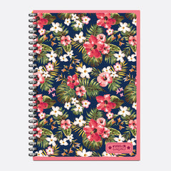 Talking Angela Spiral Notepad A4 - Teen Flowers