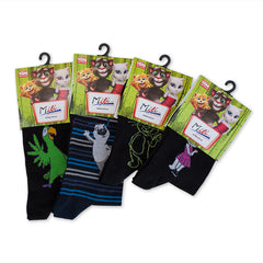 Talking Tom Black Adults' Socks