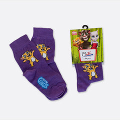 Talking Ginger Kids' Socks - Purple