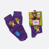 Talking Ginger Kids' Socks, Purple