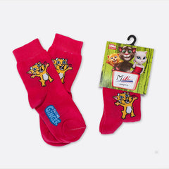 Talking Ginger Kids' Socks - Red