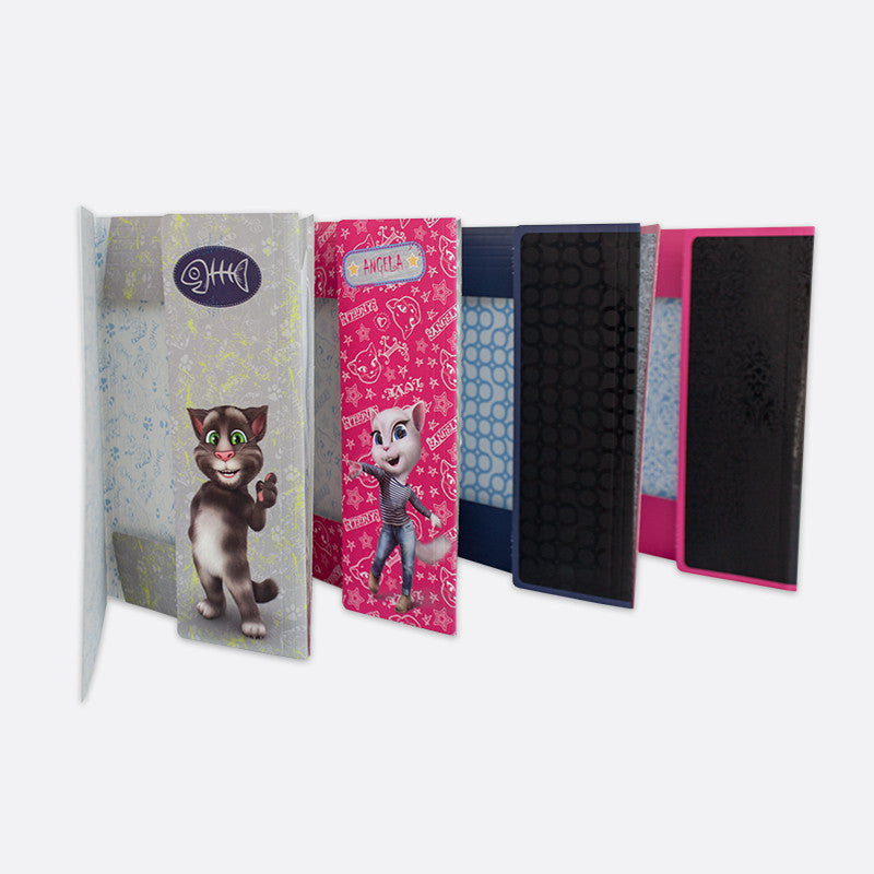 Talking Tom Elasticated File, Teen Cool Black