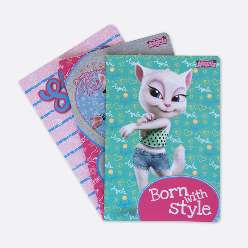 Talking Angela A5 Notebook, Kids Born with Style