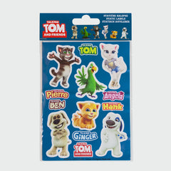 Talking Tom and Friends Reusable Static Cling Stickers Collection