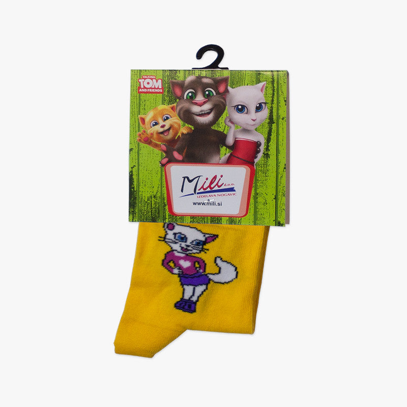 Talking Angela Cute Kids's Socks - Yellow