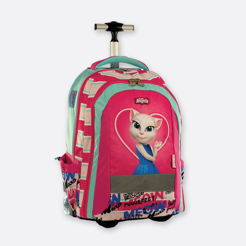 Talking Angela Trolley Backpack Love Meow