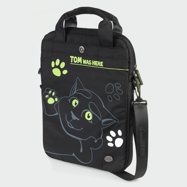 Talking Tom's Black Laptop Bag