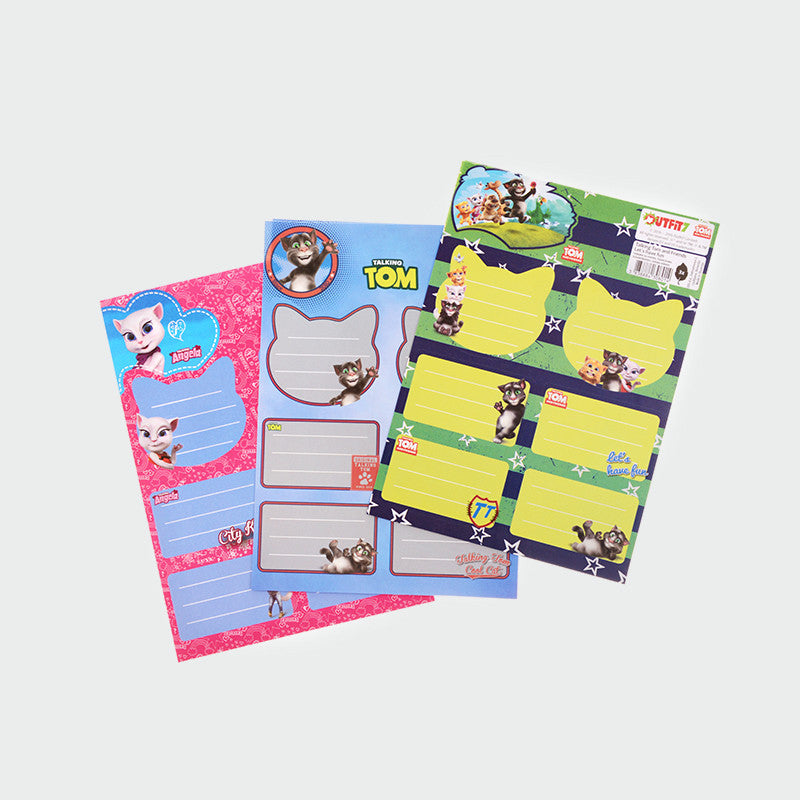 Talking Tom and Friends ID Stickers