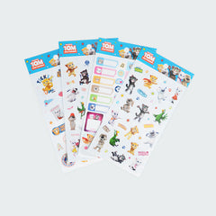 Talking Tom and Friends Stickers Collection - School Labels