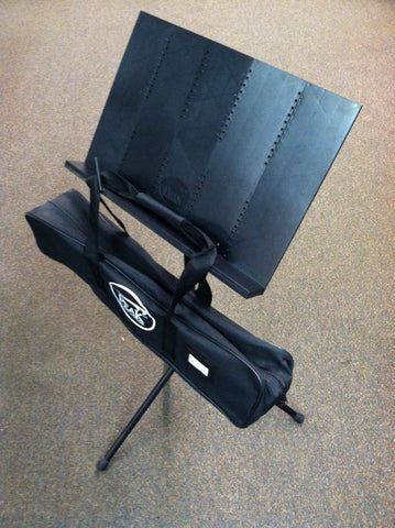 Peak Fully Collapsible Travel Music Stand with Carrying Case ** Sturdy Design **