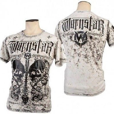 Wornstar Apparel Rock Clothing Transform Skull Distress Black Foil T Shirt