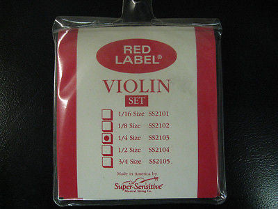 Red Label 1/4 Violin Strings SS2103 CLEARANCE SALE !!!