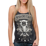 Wornstar Country Western Rock Apparel Ladies Outlaw Tank Top