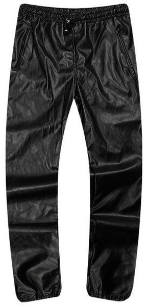 HOLDERS OF GOLD LEATHER JOGGERS