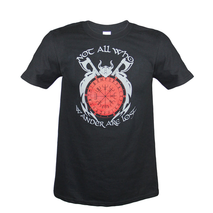 All Who Wander Black T-Shirt