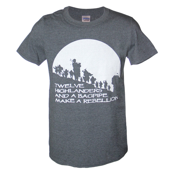 Bagpipe Rebellion Gray T-Shirt