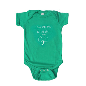 Drink Me Milk Green Baby Onesie
