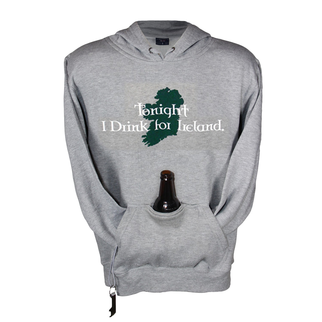 Drink for Ireland Gray Tailgate Hoodie