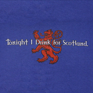 Drink for Scotland Blue T-Shirt