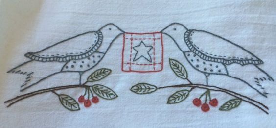 Free Pattern - My Stars Tea Towel