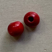 Red Wood Beads