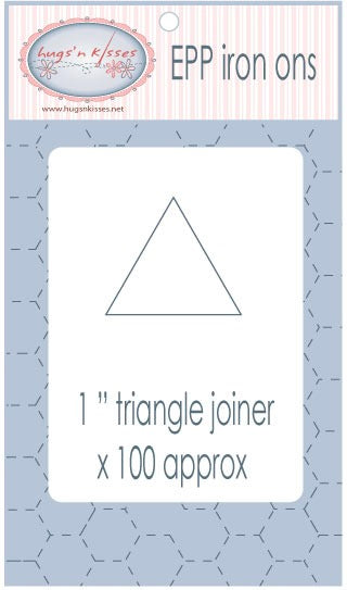 "EPP Fusible 1"" triangle papers - PRE-ORDER late March shipping"
