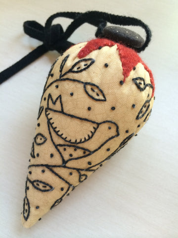 Free Pattern - Bird in Hand Pincushion
