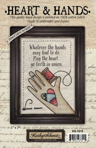 Heart and Hands- Fabric Kit
