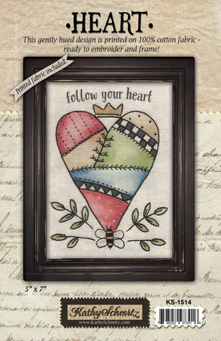 Heart- Fabric Kit
