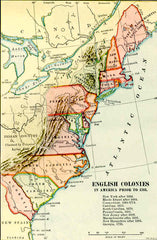 Map of the early Colonies