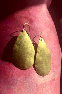 Delicate Hammered Metal Earrings