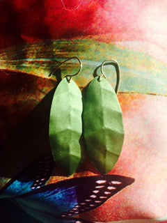 Oxidized Metal Leaf Earrings