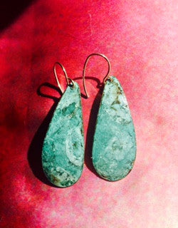 Hand-Hammered Oxidized Metal Earrings