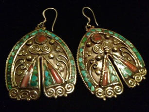 Vintage Art/ Exotic Earrings