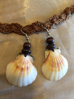 Macrame Shell Earrings