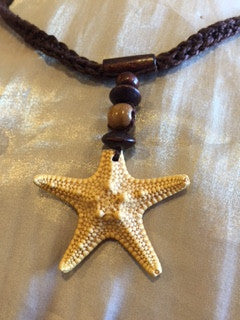 Macrame Necklace with Star Sea Shell