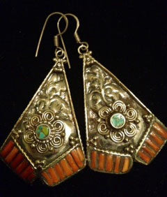 Triangle Scroll Exotic Dangles