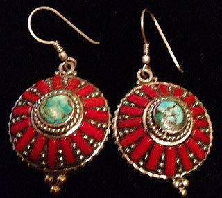 Red Coral Exotic Earrings