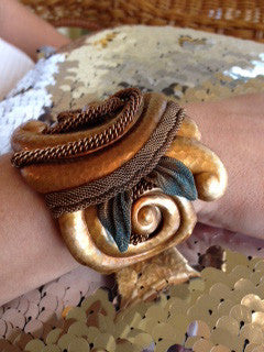 Scalloped Mixed Metal Bracelet