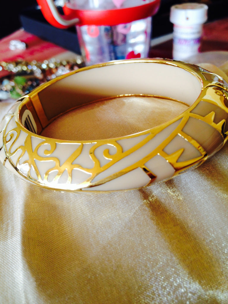 Khaki  Resin Bangle Bracelet