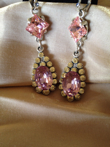 Pink Glam Dangle Earrings