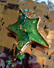Star Dichroic Glass Pin
